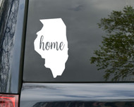 "Illinois State Vinyl Decal Sticker 6"" x 3.5"" Home IL Chicago"