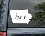 """Iowa State Vinyl Decal Sticker 6"""" x 4.5"""" Home IA Hawkeyes Iowan"""