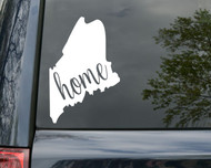 "Maine State Vinyl Decal Sticker 6"" x 4.5"" Home ME Vacationland"
