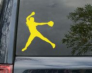 "Softball Pitcher Player Vinyl Decal Sticker 5"" x 4.25"" Fastpitch"