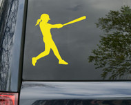 "Softball Player Vinyl Decal Sticker 5"" x 5"" Fastpitch - Car Laptop Macbook"
