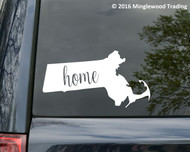 "Massachusetts State vinyl decal sticker 6"" x 3"" MA Home Boston"