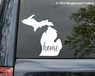 """Michigan State vinyl decal sticker 6"""" x 6"""" MI Home Detroit"""