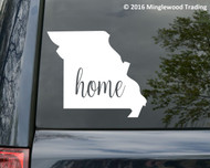 "Missouri State vinyl decal sticker 6"" x 5.25"" MO home"