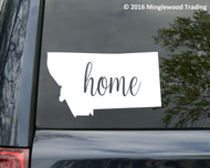 "Montana State vinyl decal sticker 6"" x 3.5"" MT home Big Sky"