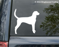 "Foxhound vinyl decal Sticker 5"" x 4"" Dog American English"