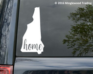 "New Hampshire State vinyl decal sticker 3"" x 6"" Home NH - FREE SHIPPING"