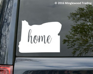 "Oregon State vinyl decal sticker 6"" x 4.5"" OR Home"