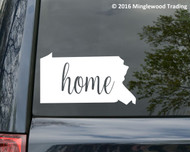 "Pennsylvania State vinyl decal sticker 6"" x 3.25"" PA Home"