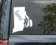 "Rhode Island State vinyl decal sticker 4.75"" x 6"" RI Home"