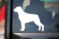 "Rottweiler Dog vinyl decal sticker 5"" x 4"" Rott Rottie"