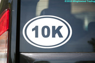 "10K Running Oval vinyl decal sticker 6"" x 4"" Race 6.2 Miles Jogging Run"