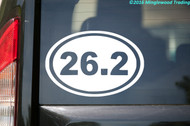 "26.2 Running Oval vinyl decal sticker 6"" x 4"" Marathon Run Race"