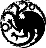 "House Targaryen Sigil vinyl decal sticker 6"" x 6.25"" Game of Thrones Dragons Daenerys"