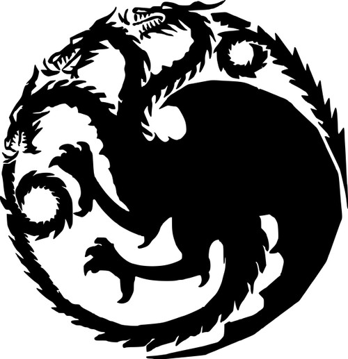 House Targaryen Sigil Vinyl Decal Sticker 6 Quot X 6 25 Quot Game