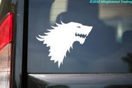 HERALDIC LION HEAD Vinyl Sticker - House Stark Game of Thrones Sigil - Die Cut Decal