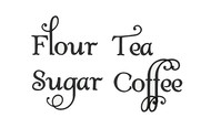 Set of 4 Kitchen Canister Labels - Vinyl Stickers - Flour Coffee Tea Sugar - Die Cut Decals - Swash