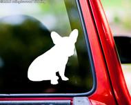 """French Bulldog Sitting Dog vinyl decal sticker 5"""" x 4.5"""" Frenchie Puppy"""