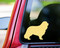 custom ivory/cream vinyl decal of a Cavalier King Charles Spaniel silhouette by Minglewood Trading. Applied to the rear window of an truck.