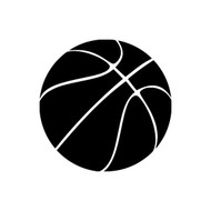 Basketball Vinyl Sticker - Youth Hoops Sports - Die Cut Decal