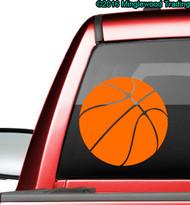 "Basketball custom vinyl decal sticker 11.5"" x 11.5"" Youth Hoops  Sports"