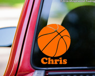 "Basketball vinyl decal sticker with Custom Personalized Name 5"" x 6""  Sports"