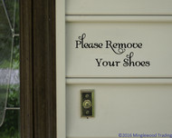"Please Remove Your Shoes - Vinyl Decal Sticker - 8"" x 3.5"""