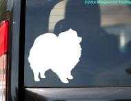 "Pomeranian custom vinyl decal 5"" x 5"" Spitz Pom Dog"