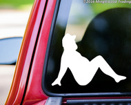 "Mudflap Fat Man - Trucker Girl Country Boy Vinyl Decal Sticker - 5"" x 3.5"""