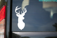 "Deer - Rack Stag 9-point Mule White-Tailed Elk Vinyl Decal Sticker - 2.5"" x 5.5"""