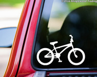 "BMX Bike vinyl decal sticker 5.5"" x 3.5"" Bicycle Racing Freestyle"