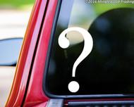 "Question Mark vinyl decal sticker 5.25"" x 2.75"" Punctuation"