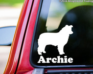 "Border Collie vinyl decal sticker with Personalized Name 5"" x 5"""