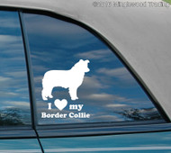 "I love my Border Collie vinyl decal sticker 5"" x 6"" Herding Dog"