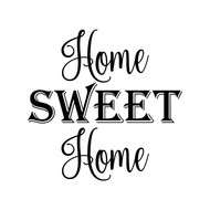 HOME SWEET HOME Vinyl Sticker - Wall Decor - Die Cut Decal