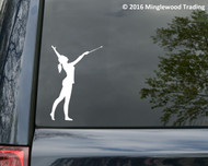 "Baton Twirler vinyl decal sticker 5"" x 3.5"" Twirling Marching Band  Majorette"
