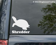 "Turtle vinyl decal sticker with Custom Personalized Name 5"" x 5"" Tortoise Shell"