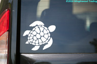 "Sea Turtle vinyl decal sticker 5"" x 4.5"" Leatherback"