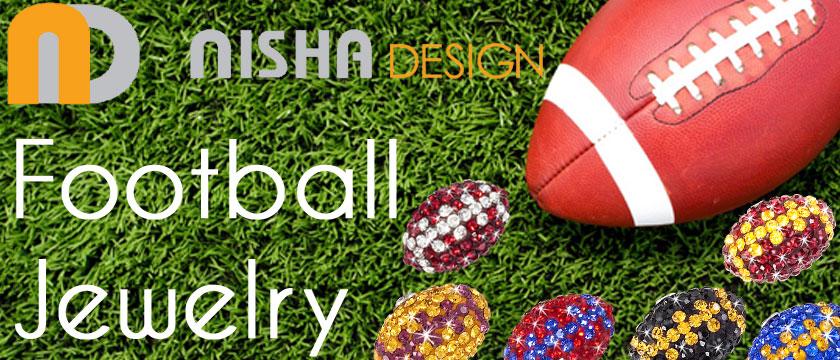 Nisha Design Football Jewelry
