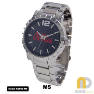 Ole-Miss-Rebels-Mens-Metal-Watch