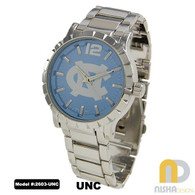 North-Carolina-UNC-Tar-Heels-Mens-Metal-Watch