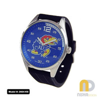 Kansas-Jayhawks-Mens-Jelly-Watch