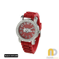 Arkansas-Razorbacks-Ladies-Petite-Jelly-Watch