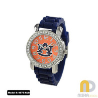 Auburn-Tigers-Ladies-Petite-Jelly-Watch