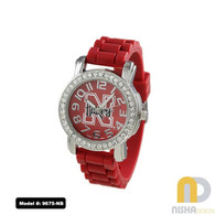 Nebraska-Cornhuskers-Small-Ladies-Jelly-Watch