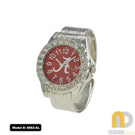 Alabama-Crimson-Tide-Ladies-Metal-Cuff-Watch