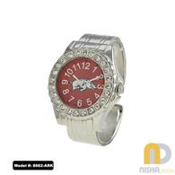 Arkansas-Razorbacks-Ladies-Cuff-Watch-Metal
