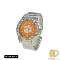 Clemson-Tigers-Metal-Cuff-Watch-For-Ladies