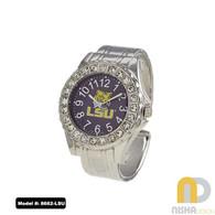 LSU-Tigers-Ladies-Metal-Cuff-Watch