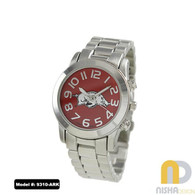 Arkansas-Razorbacks-Ladies-Metal-Watch